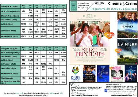 Programme du 16/09 au 29/09